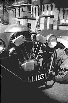 Michael Buck's old Moggie powered by J.A.P.